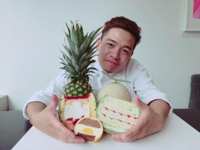 Cantiknya Kue dalam Melon dan Nanas yang Hits di Jepang