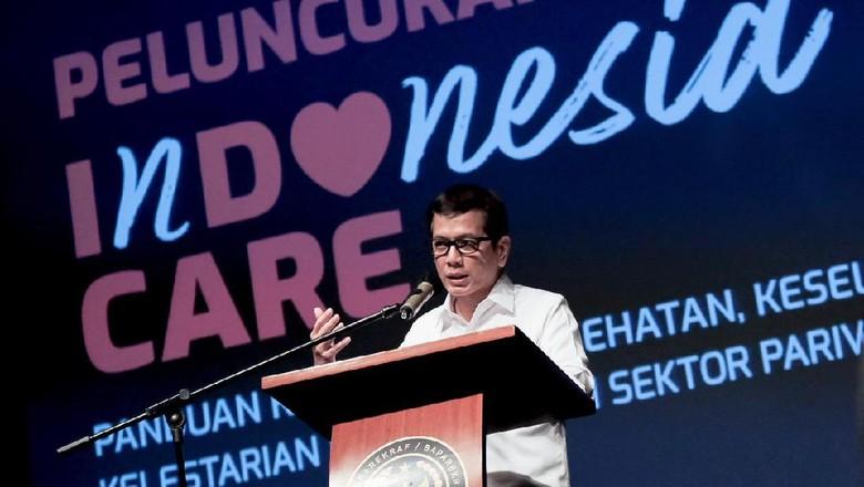 Menparekraf Wishnutama Kusubandio saat meluncurkan Indonesia Care di Senayan, Jumat (10/7/2020).