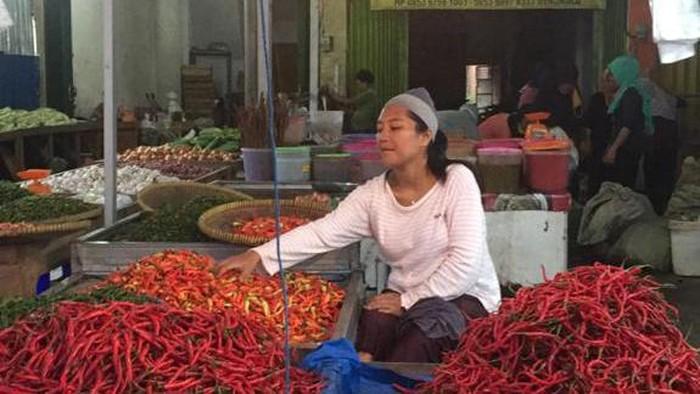 Suasana di Pasar Panorama Bengkulu (Hery-detikcom)