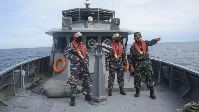 TNI AL Patroli di Perairan Selat Malaka Aceh