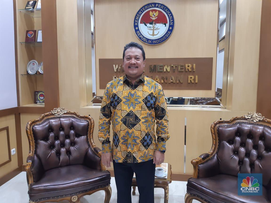 Wakil Menteri Pertahanan RI Sakti Wahyu Trenggono (CNBC Indonesia/Muhammad Iqbal)
