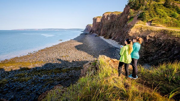 Tebing Fundy UNESCO Global Geopark memiliki berbagai Keanekaragaman hayati, di antaranya burung langka, jamur dan tanaman dan sebuah teluk yang dikenal memiliki pasang tertinggi di bumi, Cekungan Minas. (UNESCO)