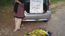 Haru! Kisah Ibu Hamil 7 Bulan Jualan Jagung Demi Hidupi Keluarga