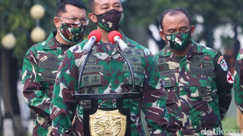 Menhan Prabowo Perintahkan Anggota TNI Dites Swab, Ini Respons KSAD