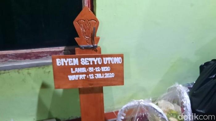 Biyem Setyo Utomo atau Mbah Lindu, penjual gudeg legendaris di Yogyakarta meninggal dunia, Minggu (12/7/2020).
