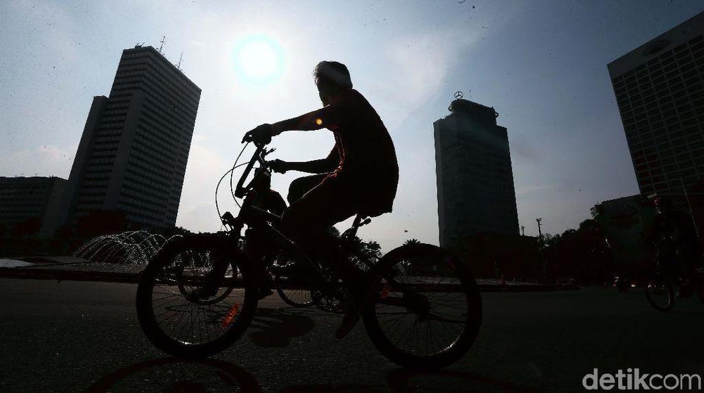 Jalur Sepeda Pop Up Sudirman-Thamrin Diperlebar Akhir Pekan Ini