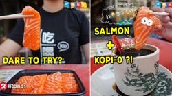 Salmon Mentah Celup Kopi Panas Jadi Tren Sarapan Baru