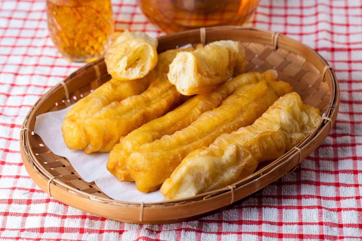 Sliced Cakwe Indonesian Traditional Food for breakfast