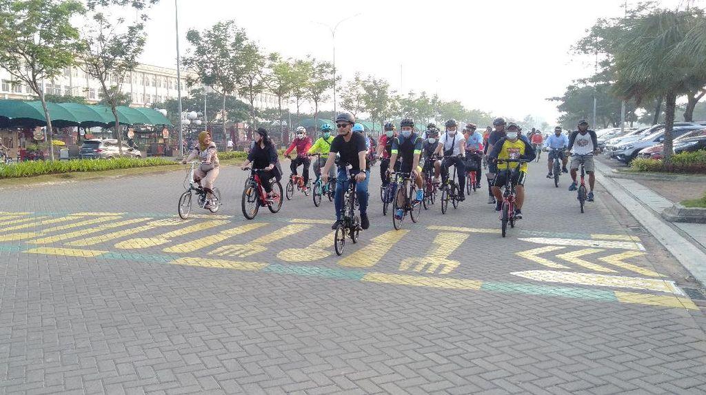 Gowes di PIK Bareng Anggota DPRD DKI, M Taufik: Bangun Jakarta Sehat