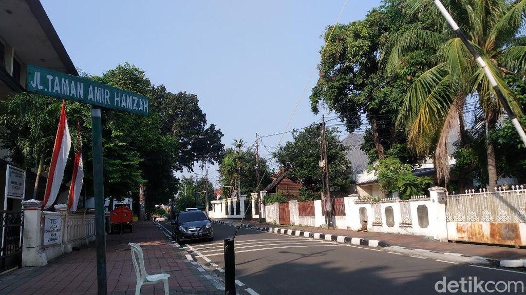 Menteng Zona Merah Corona, Begini Suasana di Jalan Amir Hamzah Pagi Ini