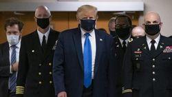 Kata Trump yang Akhirnya Kenakan Masker di Publik Pertama Kali
