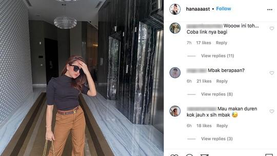 Hana Hanifah Diduga Ditangkap, Komentar Pedas Penuhi Medsosnya