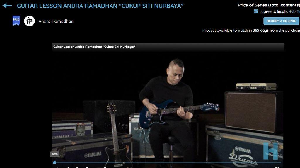 Andra Ramadhan Berbagi Ilmu Bermain Gitar Lewat Platform Online