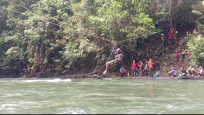 Lokasi ditemukannya 3 anggota Tim SAR di Gunung Tambusisi
