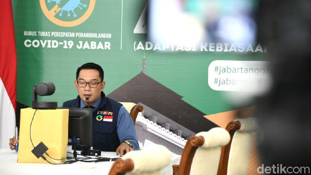 Ridwan Kamil Laporkan Kasus Corona ke Jokowi: Jabar Paling Rawan