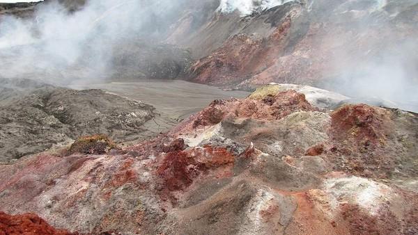 Menurut para peneliti, fenomena alam di Smoking Hills berasal dari aktivitas vulkanik. Di balik bebatuan tebing tersebut, terdapat kandungan senyawa sulfur yang sangat kaya. (Michael D. Turnbull/CC BY-SA 4.0)