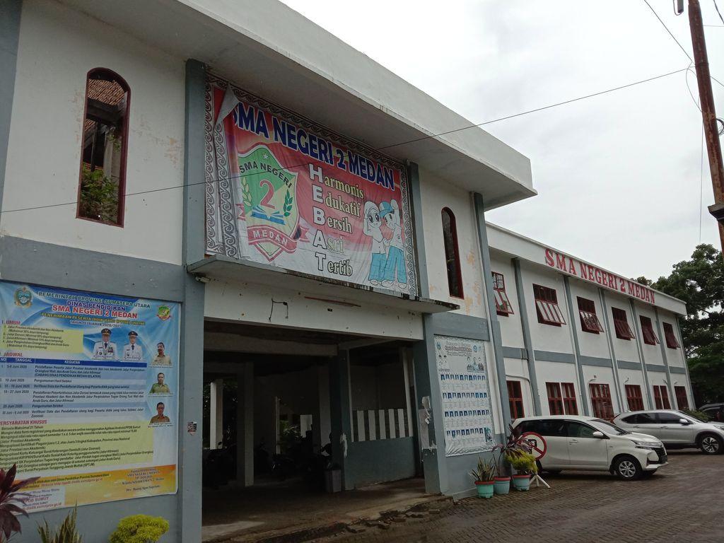 Suasana sekolah di Medan (Arfah-detikcom)