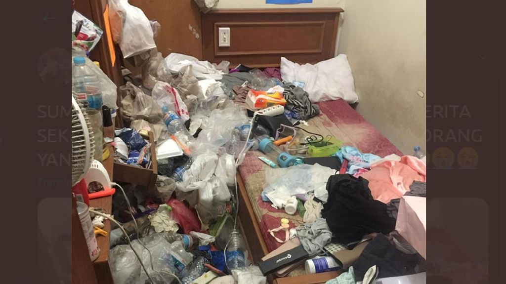 Viral Kamar Kos Penuh Sampah, Diduga Hoarding Disorder