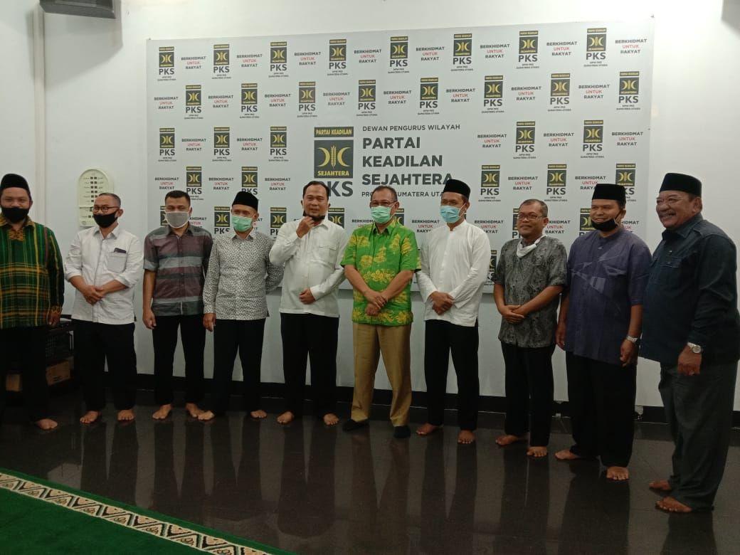 Akhyar Nasution datangi DPW PKS Sumut (Ahmad Arfah-detikcom)