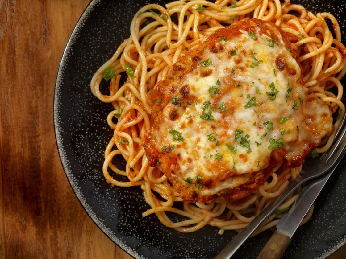 baked spaghetti with Fiesta