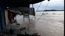 Banjir Rendam Parigi Moutong Sulteng, 17 Rumah Hanyut Ratusan Warga Ngungsi