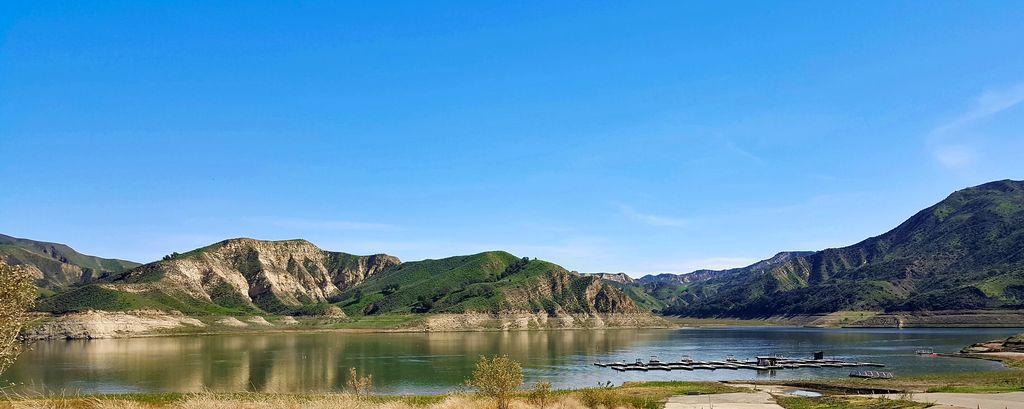A panarama of Lake Piru in Southern California, USA