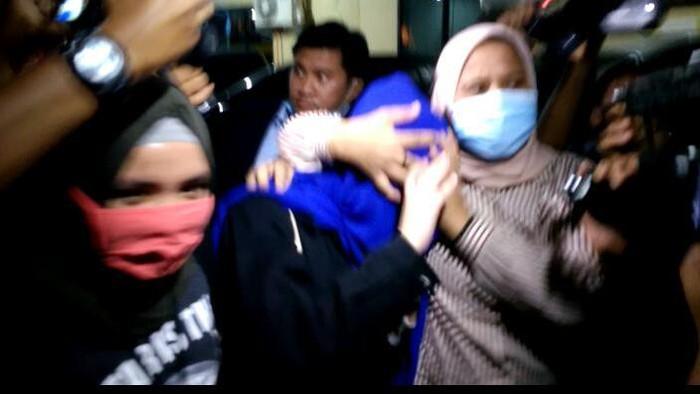 Hana Hanifah di Polrestabes Medan (Datuk Haris-detikcom)