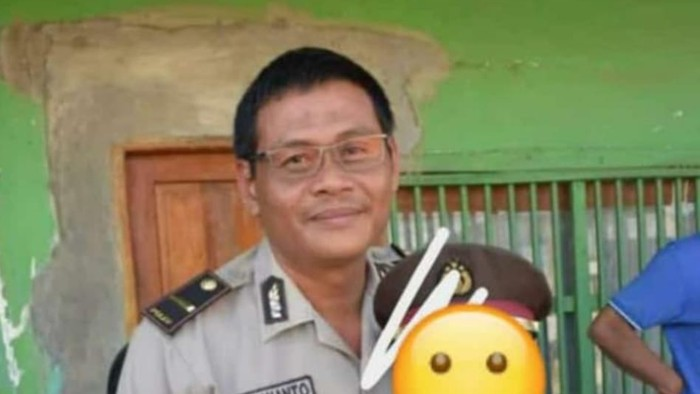 Kanit Reskrim Polsek Utan, Ipda Uji Siswanto, yang gugur ditusuk seorang pria diberi kenaikan pangkat luar biasa (dok. Istimewa)
