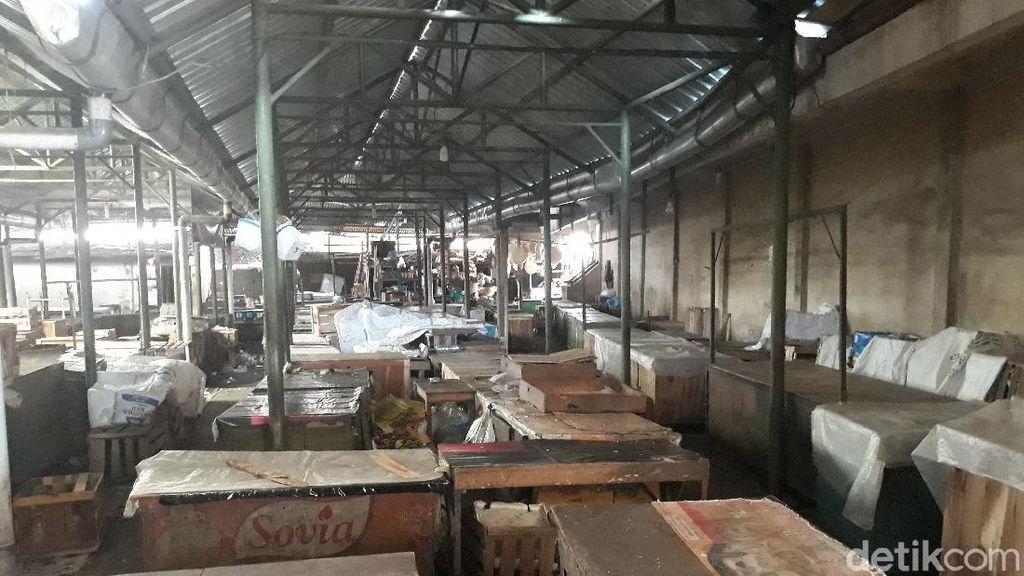 Penampakan Lengangnya Pasar Harjodaksino Solo Setelah Ditutup Pemkot