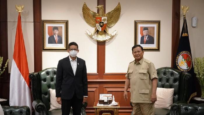 Sandiaga Uno saat bertemu Menhan Prabowo Subianto (Foto: Istimewa)