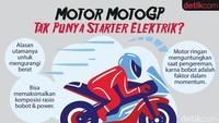 Kenapa Motor MotoGP Tak Pakai Starter Elektrik?