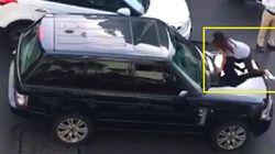 Pergoki Suami Selingkuh, Wanita Ini Ngamuk Sampai Naik ke Kap Mobil