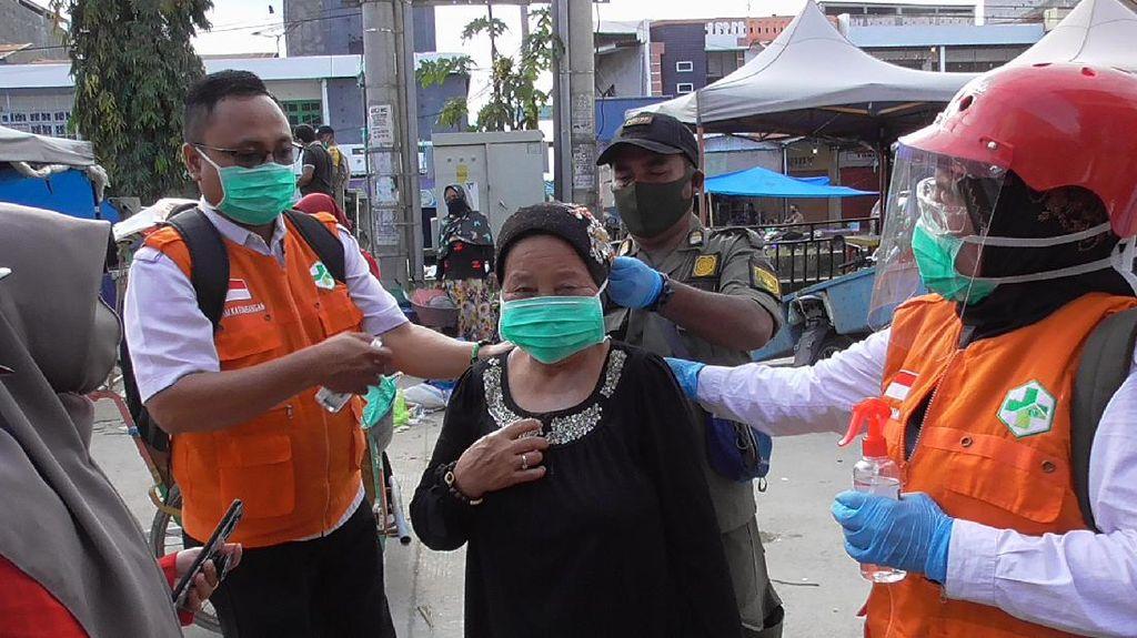 Pasar di Polman Kembali Dibuka, Akses Masuk Diperketat untuk Cegah Corona