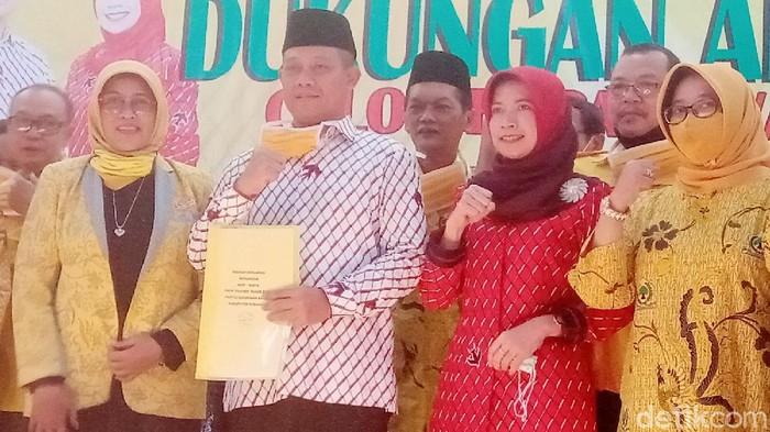 Deklarasi Partai Golkar Kebumen untuk pasangan Arif-Rista, Rabu (15/7/2020).