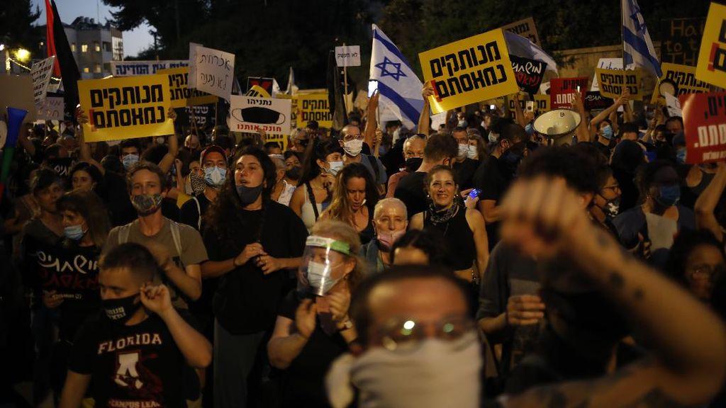 Video Polisi Israel Angkut Pedemo Anti-Benjamin Netanyahu