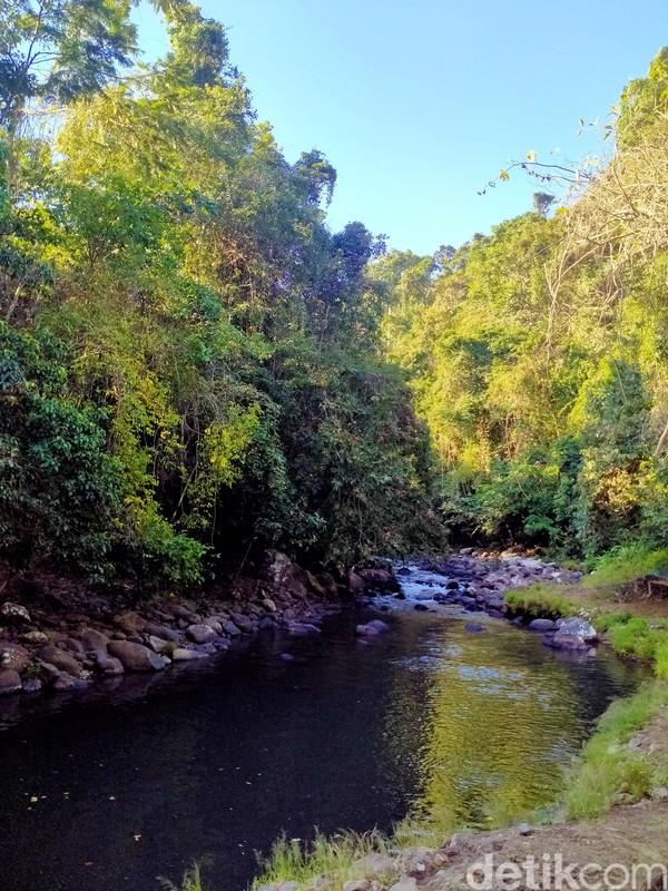 Warga setempat menyebutnya Sori Nae atau dalam bahasa Indonesianya Sungai Besar. Inilah setitik kesegaran dari Dompu, NTB. (Faruk Nickyrawi/detikcom)