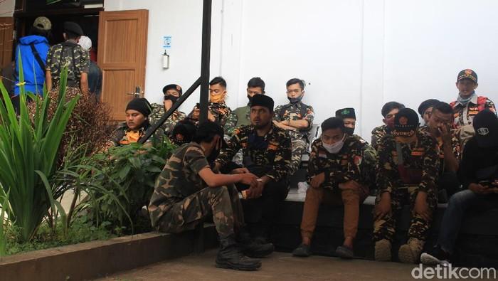 Banser hadiri sidang empat petani yang jadi terdakwa