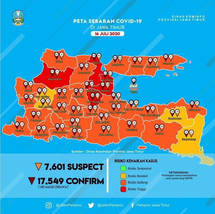 Presiden RI Joko Widodo, pada 25 Juni lalu memberi waktu 2 minggu kepada Gugus COVID-19 Jatim untuk menurunkan kasus. Namun angka kasus COVID-19 di Jatim tak menunjukkan penurunan yang signifikan.