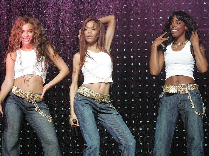 OSLO, NORWAY.- MAY 15:  (L-R) Singers Beyonce Knowles, Michelle Williams and Kelly Rowland of Destinys Child kick off the European leg of their