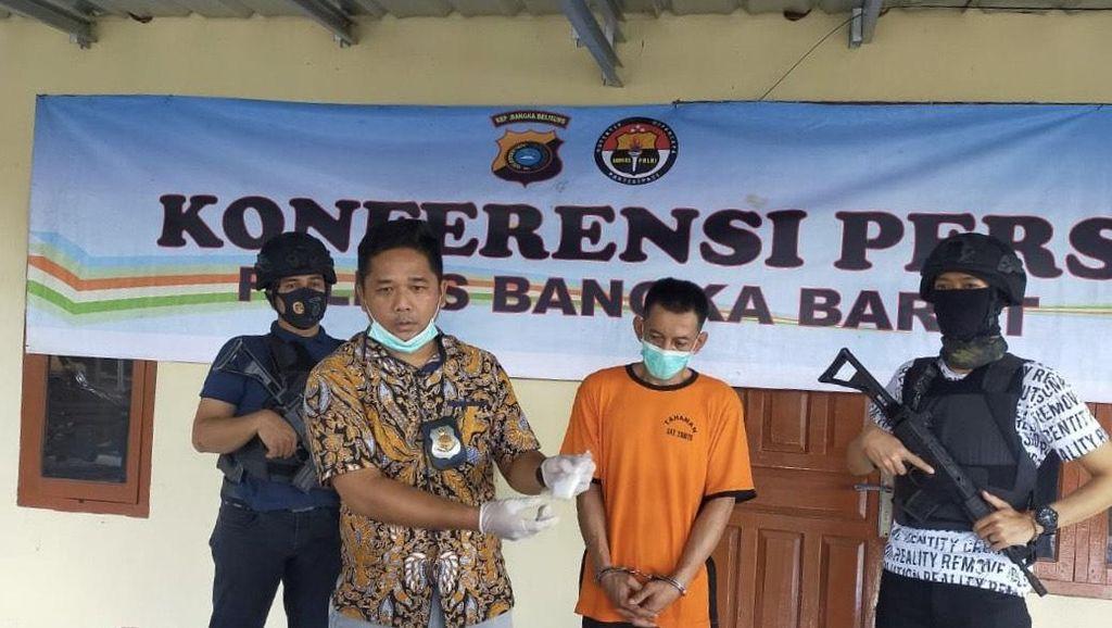 Oknum Karyawan BUMN di Bangka Nyambi Jual Sabu Diringkus Polisi