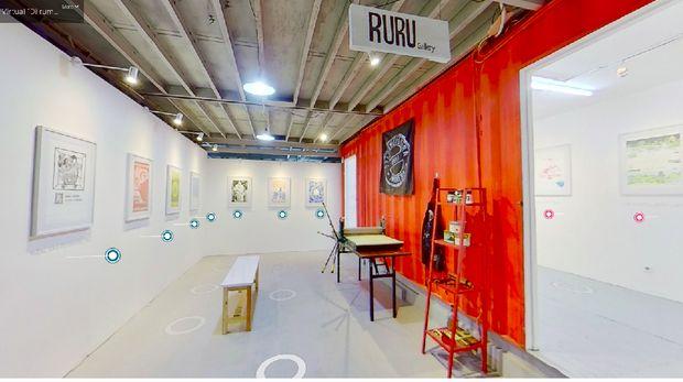 Pameran seni virtual di Gudskul Ekosistem