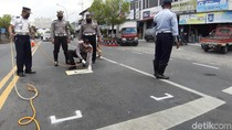 Pemotor Ngawi Diajak Jaga Jarak Saat Berhenti di Lampu Merah