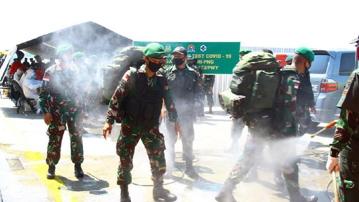 900 Personel Satgas Pamtas RI-PNG Tiba di Jayapura