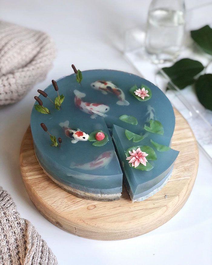 Kue Cantik Tema Ikan Koi
