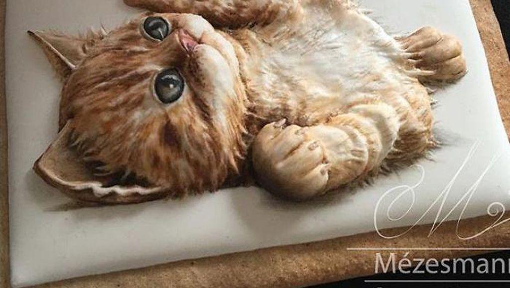 Gemas! 10 Cookies Jahe Bermotif Bunga hingga Kucing Lucu