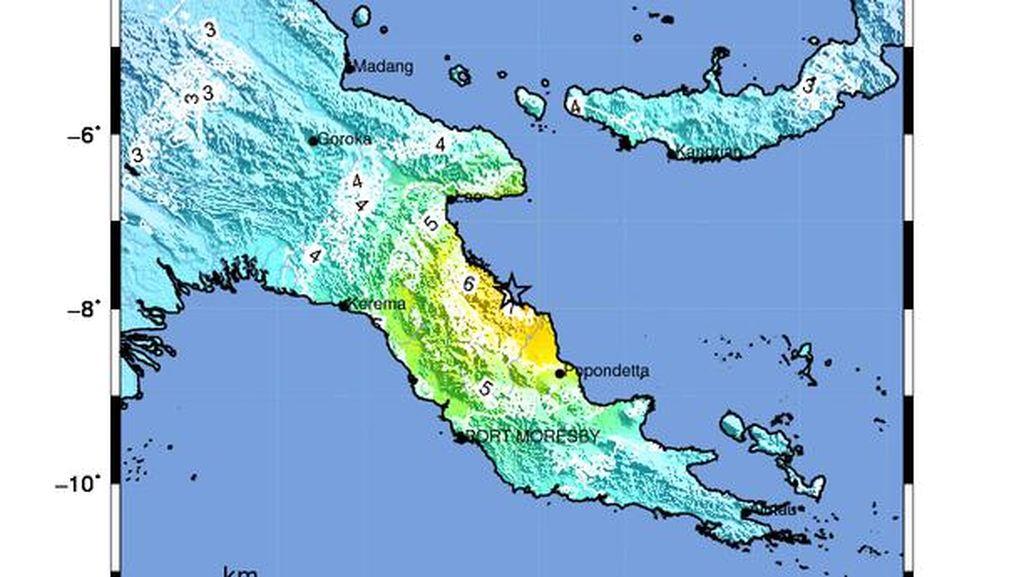 Gempa M 7,3 Terjadi di Port Moresby Papua Nugini