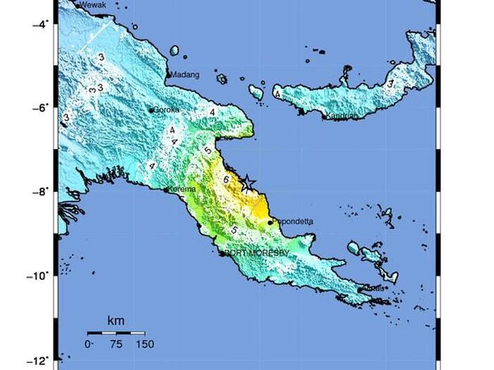 Gempa M 7,3 di Papua Nugini (Foto: BMKG)