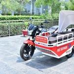 Unik, Motor Ini Dimodifikasi untuk Bantu Penanganan Pasien Corona