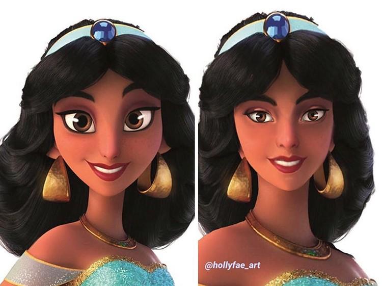 princess disney hollyfae_art
