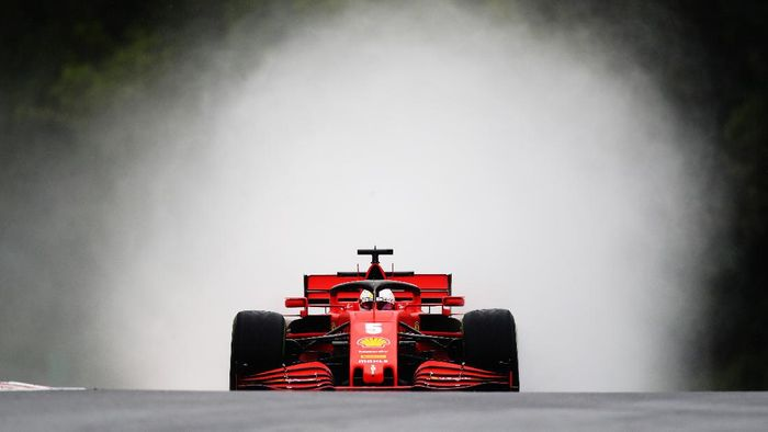BUDAPEST, HUNGARY - JULY 17: Sebastian Vettel of Germany driving the (5) Scuderia Ferrari SF1000 on track during practice for the F1 Grand Prix of Hungary at Hungaroring on July 17, 2020 in Budapest, Hungary. (Photo by Mark Thompson/Getty Images,)